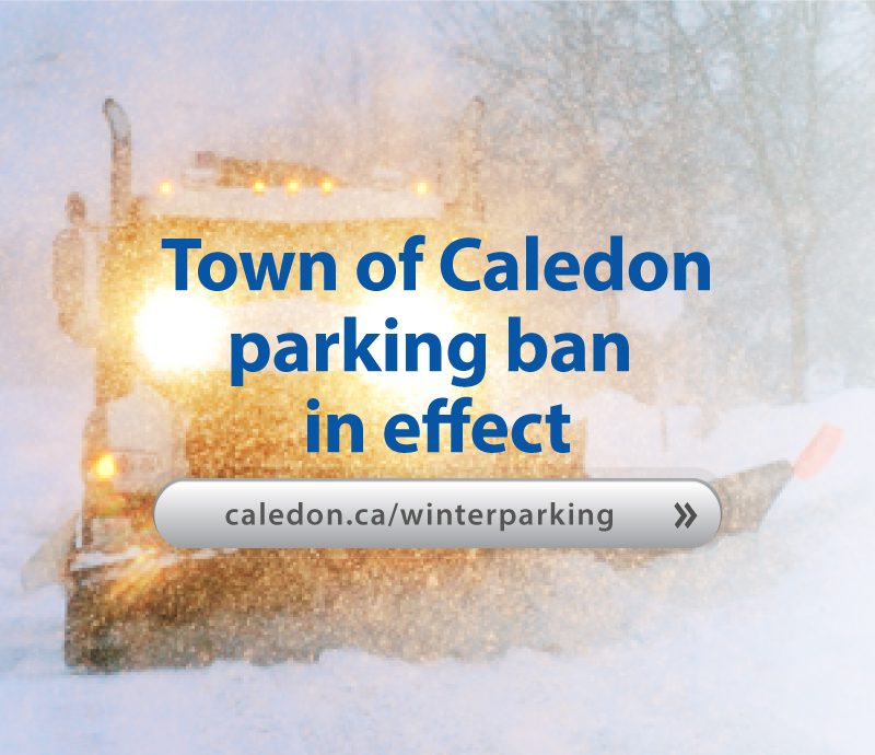 Learn more about winter parking restrictions in Caledon