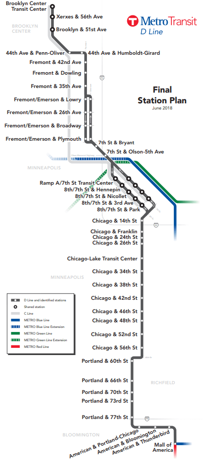 Map route of Final D Line Station Plan