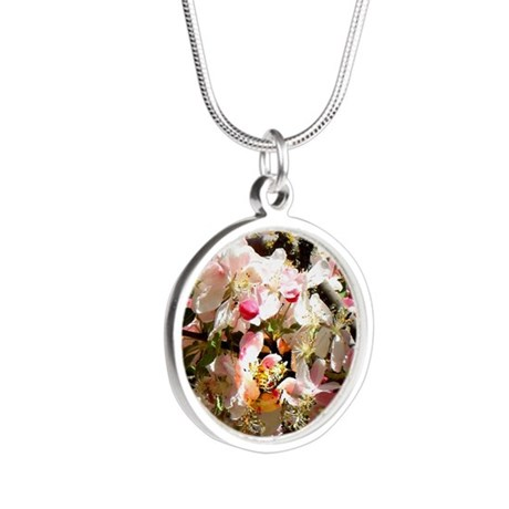 What spring does to cherry t Silver Round Necklace