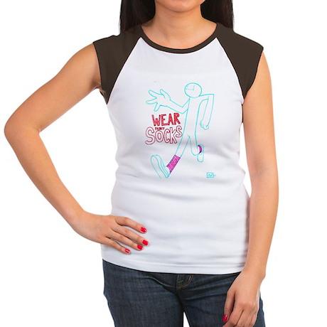 Wear socks Women's Cap Sleeve T-Shirt