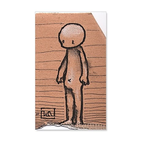 Standing guy 35x21 Wall Decal