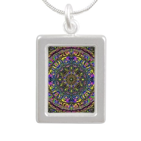 Mandala Silver Portrait Necklace