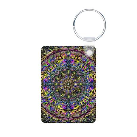 Mandala Aluminum Photo Keychain