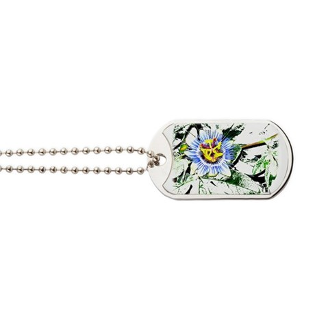 Flower Dog Tags