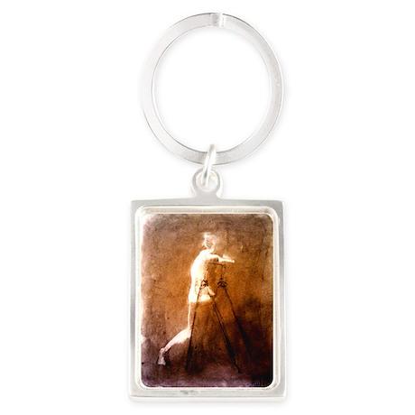 Figure erasing Portrait Keychain