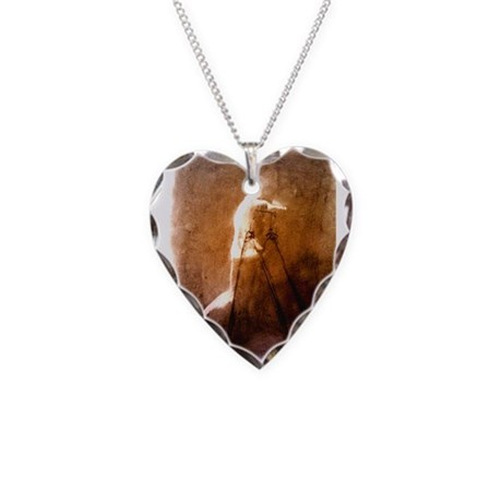 Figure erasing Necklace Heart Charm