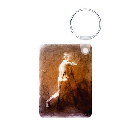 Figure erasing Aluminum Photo Keychain