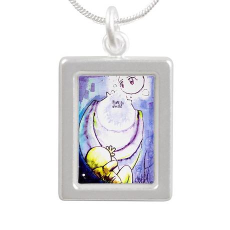 Don't be afraid Silver Portrait Necklace