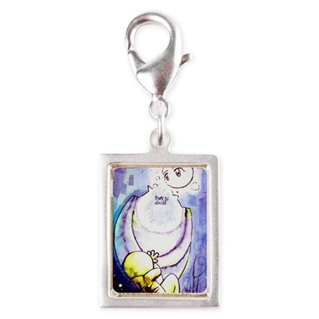 Don't be afraid Silver Portrait Charm