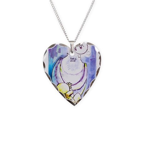 Don't be afraid Necklace Heart Charm