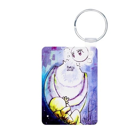 Don't be afraid Aluminum Photo Keychain
