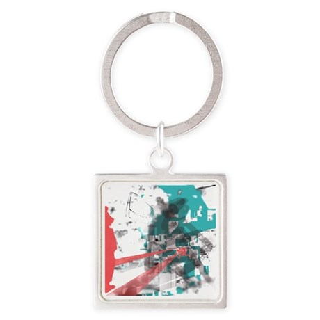 Crazy by Voln Square Keychain