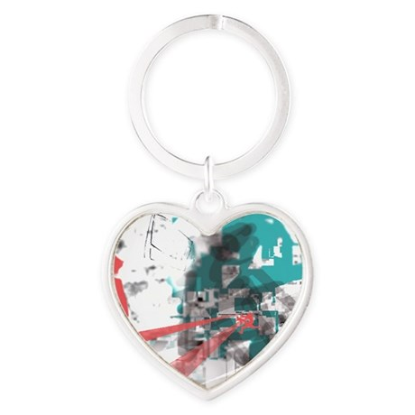 Crazy by Voln Heart Keychain