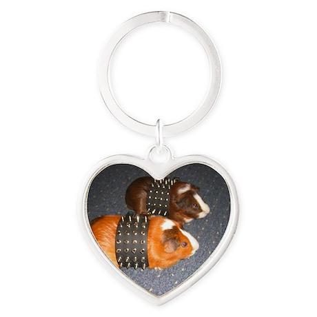 Butch Guineas Heart Keychain