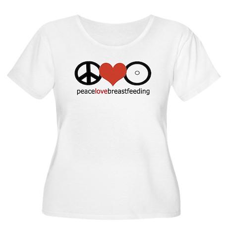 Peace, Love & Breastfeeding Women's Plus Size Scoo
