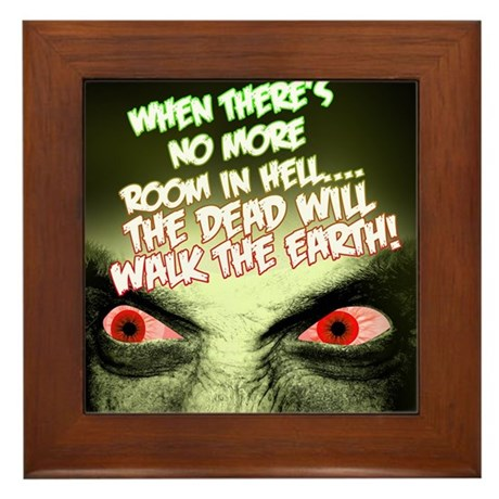 Zombie Framed Tile