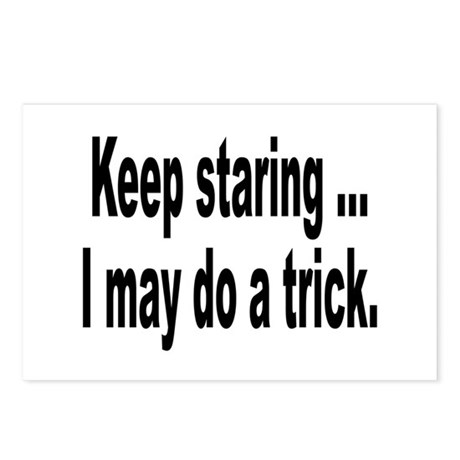 Keep Staring Humor Postcards (Package of 8)