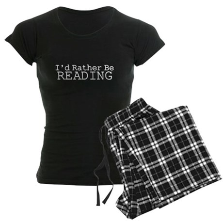 Rather Be Reading Women's Dark Pajamas