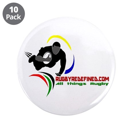 "Rugby Redefined 3.5"" Button (10 pack)"