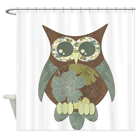 Gifts gt beach bathroom d 233 cor gt brown hibiscus owl shower curtain