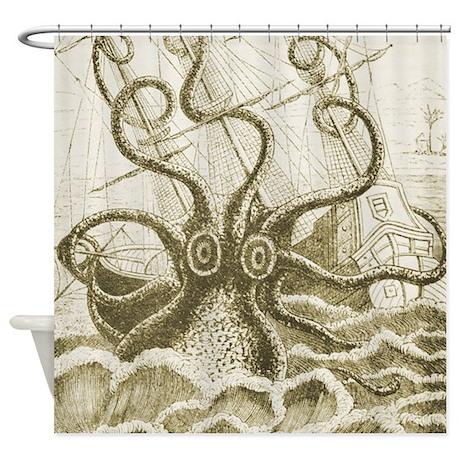 Kraken Shower Curtain
