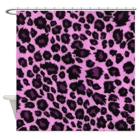 Gifts gt animal print bathroom gt purple leopard print shower curtain