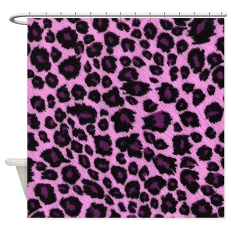 Purple Cheetah Print Curtains