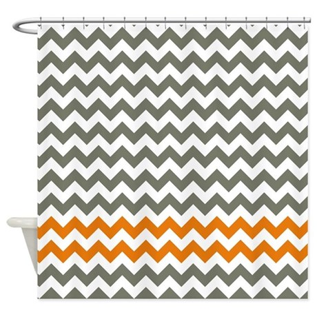Chevron gifts gt chevron bathroom d 233 cor gt gray and orange chevron