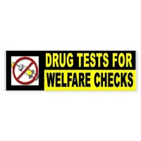 WELFARE DRUG ADDICTS Bumper Bumper Sticker by BUMPERSMAN