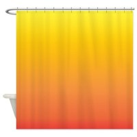 Shades of Yellow/Orange Shower Curtain by cheriverymery