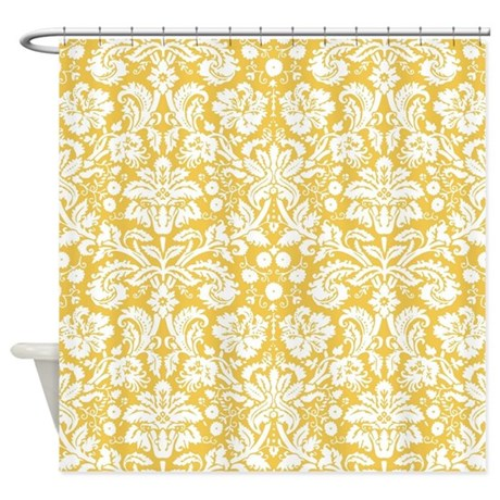 Yellow and white damask curtains success