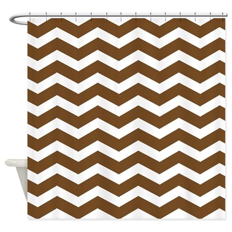 Brown Chevron Shower Curtain