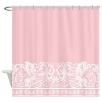 Light Pink Damask Shower Curtain by DecorativeDesigns