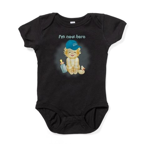 Im New Here~Boy Baby Bodysuit
