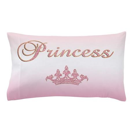 Pink Princess Pillow Case by getyergoat
