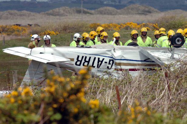 Plane which crashed at Caernarfon airport