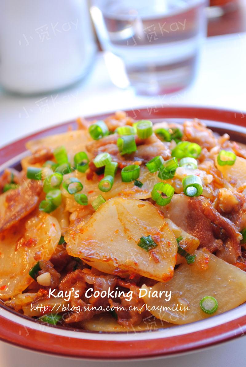 土豆片炒肉的做法_【圖解】土豆片炒肉怎么做好吃_小覓Kay_家常做法大全_豆果美食