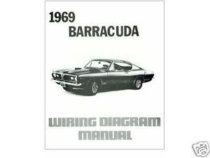 1969 69 BARRACUDA WIRING DIAGRAM MANUAL | eBay