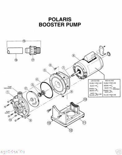 Polaris PB4-60 Booster Pool Pump Seal, Volute & Shaft O