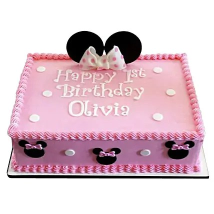 Lovely Pink Minnie Mouse Cake 1kg Chocolate Gift Minnie Mouse