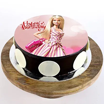 stylish barbie cake