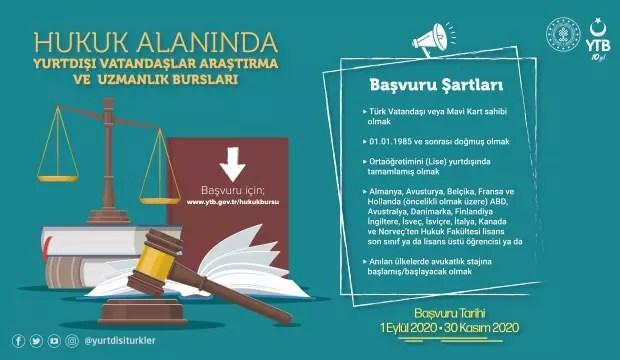 YTB Yurt dışında hukuk eğitimi alan gençleri burslandırıyor 1