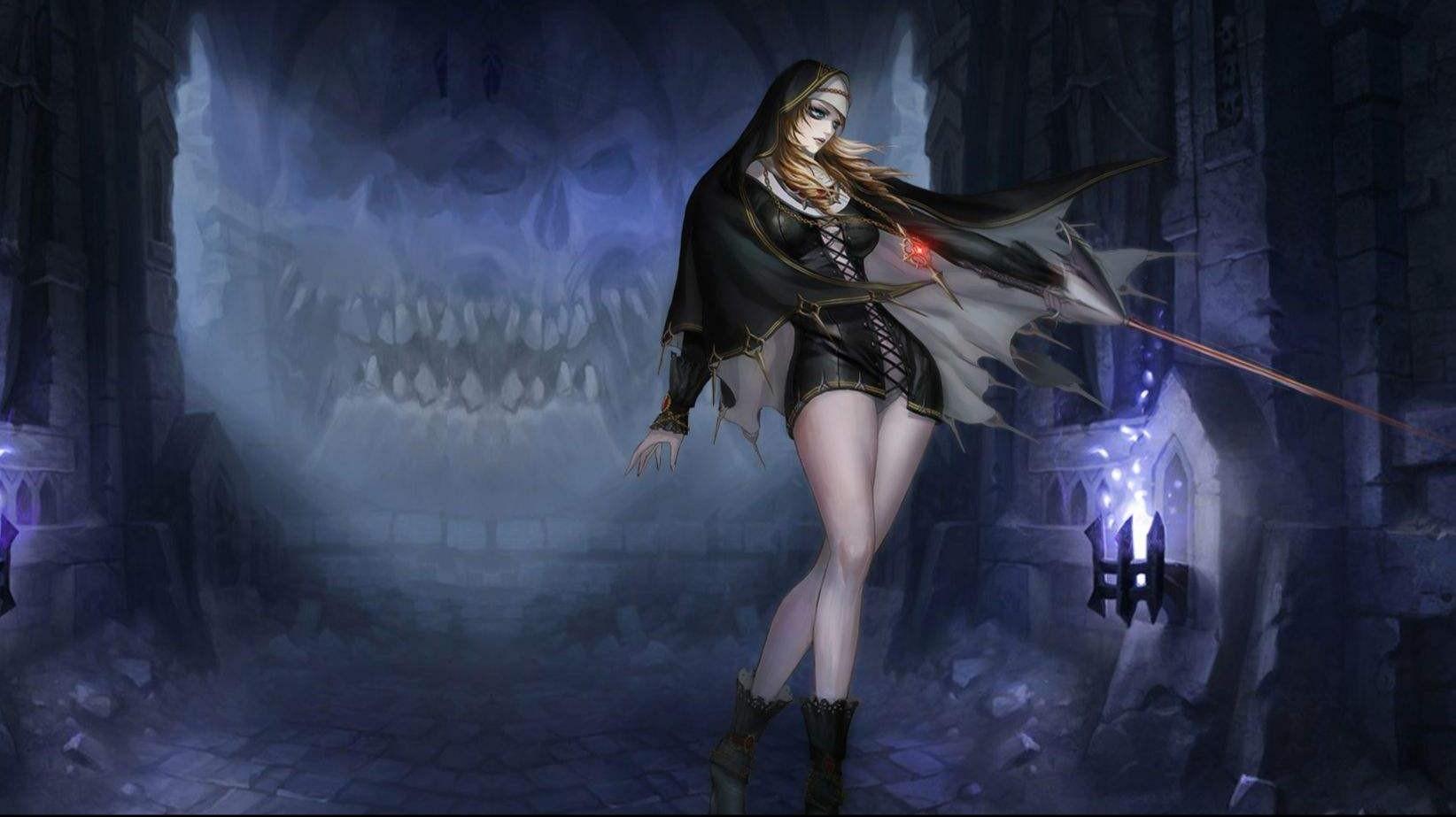 【滿屏幕大腿!】《安魂曲》黑暗修女戲虐boss_嗶哩嗶哩 (゜-゜)つロ 干杯~-bilibili
