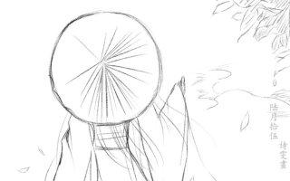 【板绘】《骤雨初歇》古风绘画过程