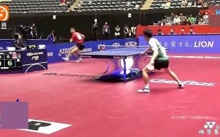 许昕浪了一个背后回球, 盲打让对手摔球拍, 在乒乓球赛场上表演的男人