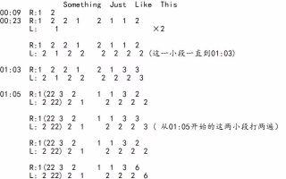 【penbeat】Something Just Like This(带谱)    真的有谱