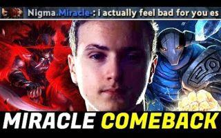 [Dota2] 连Miracle 自己都觉得敌人太惨了!翻盘斯温和无敌血魔!