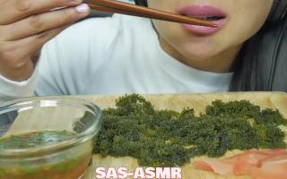 ASMR SAS小姐姐吃海葡萄 咀嚼声 吃播 声音一流 深夜放毒 耳机党福利 下饭必备 高保真