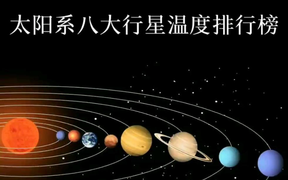 太陽系八大行星溫度排行榜,第一名熱的都快融化了。_嗶哩嗶哩 (゜-゜)つロ 干杯~-bilibili