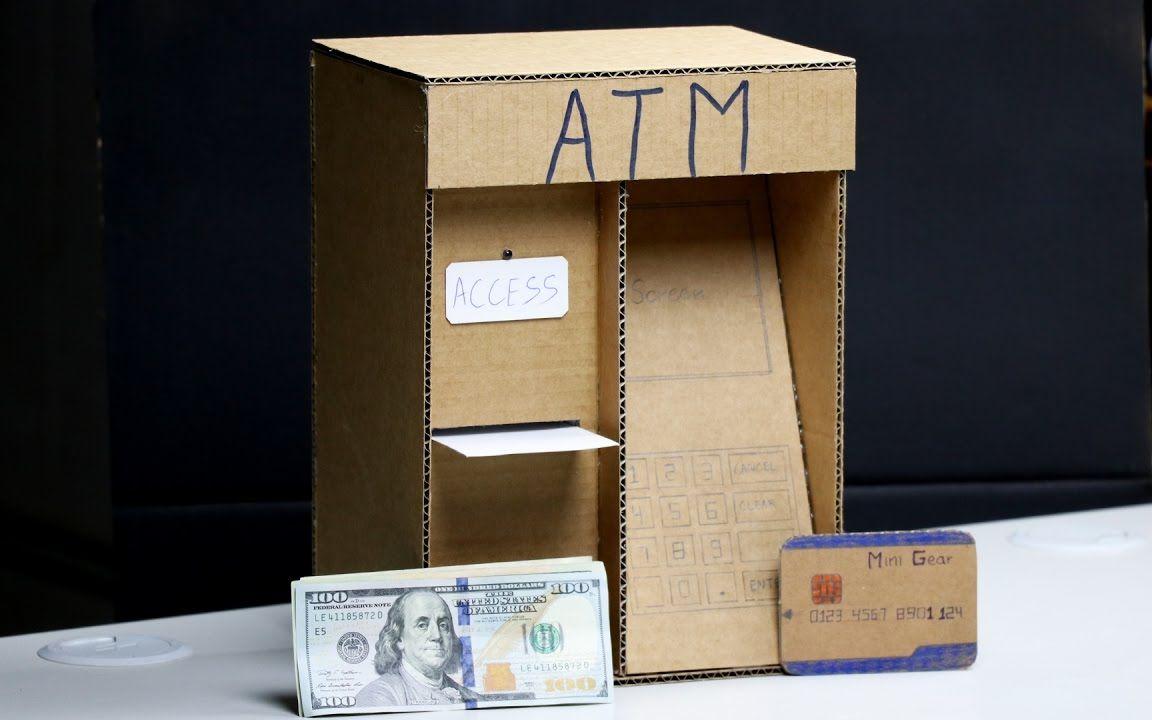 哇!驚人的ATM機 存款機 DIY 兒童個人銀行 Wow! Amazing ATM Machine DIY for Kids_嗶哩嗶哩 (゜-゜)つロ 干杯~-bilibili